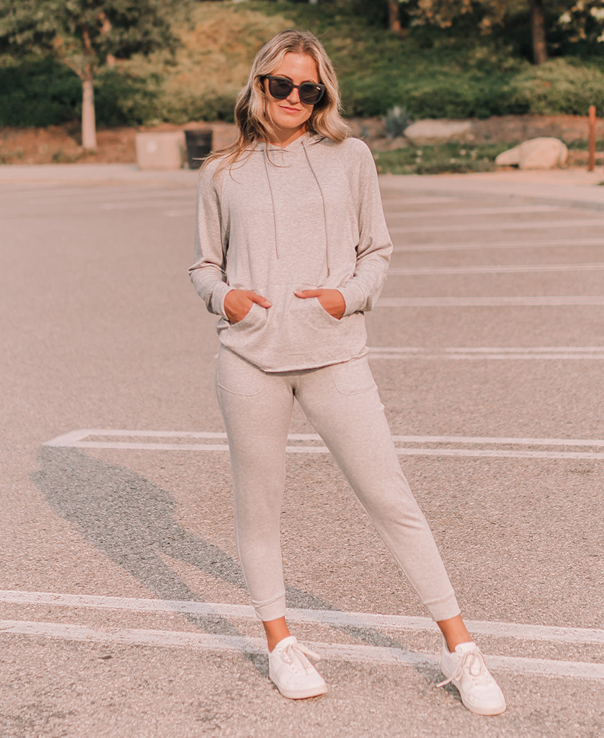 Heather Gray Jogger Sweatpants (42435)