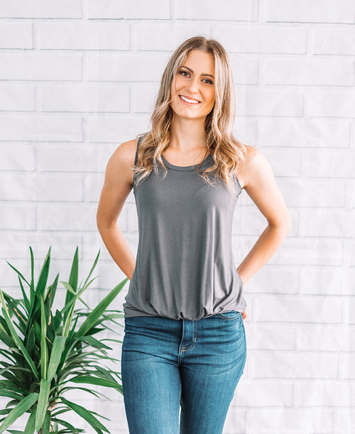 Charcoal Knot Front Tank (14803)