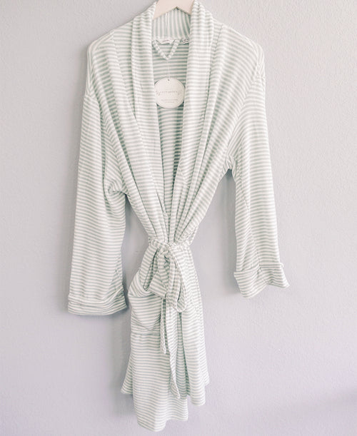Green Striped Jersey Robe
