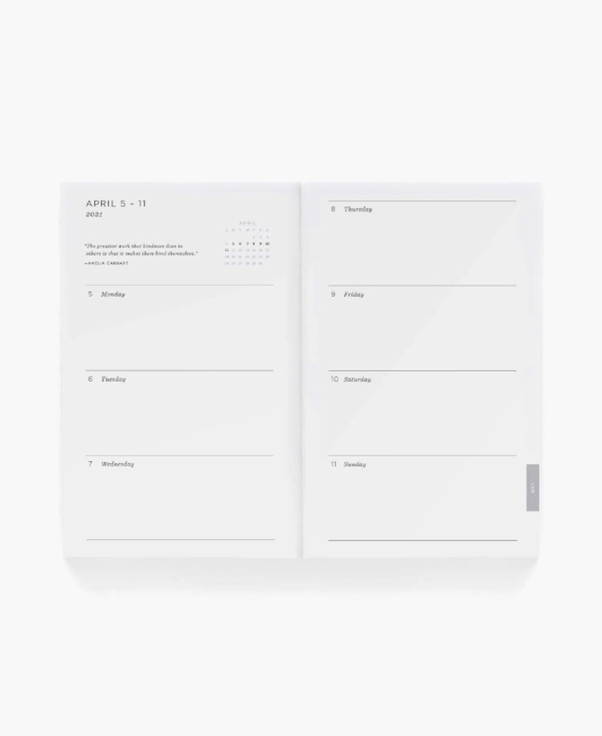 2021 Hair Bow 12-Month Pocket Agenda by Rifle Paper Co.