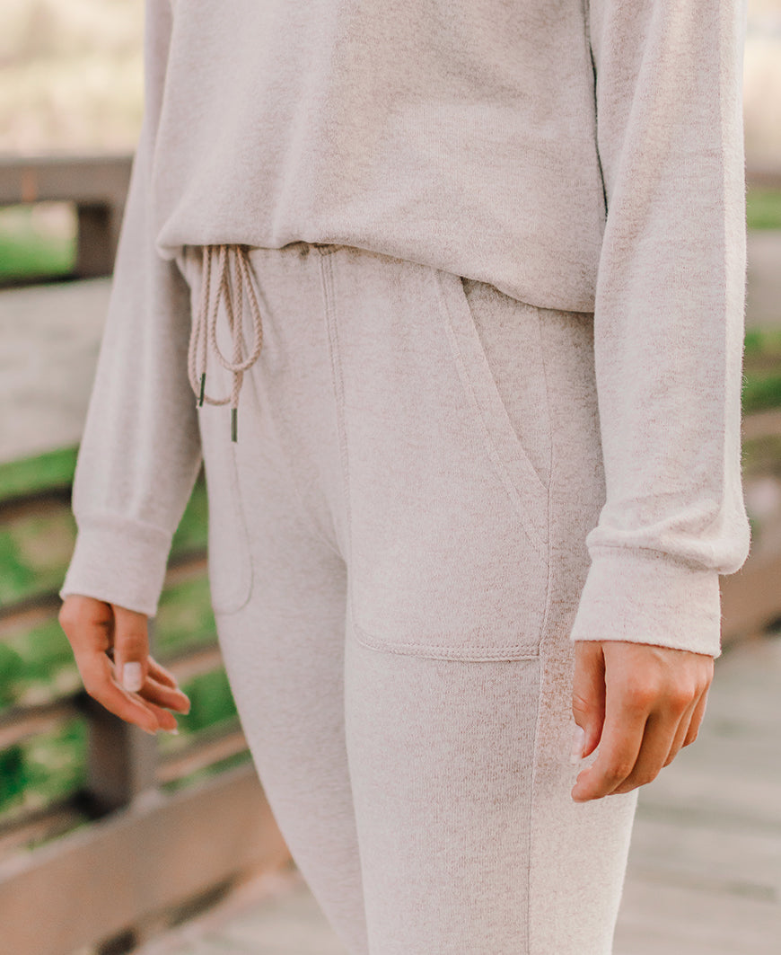 Tan Heathered Jogger Sweatpants (42430)