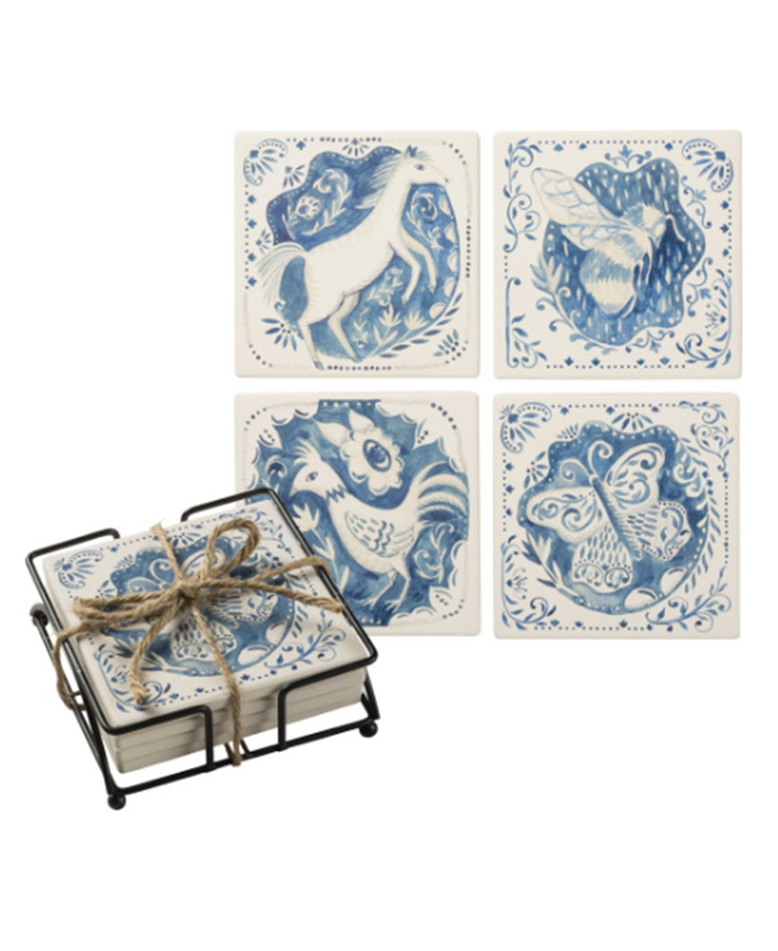Indigo Animals Coaster Set