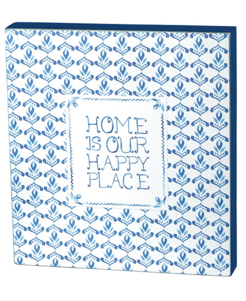 Indigo Happy Place Box Sign (37905)