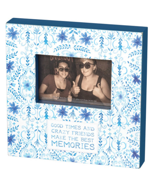 Indigo Crazy Friends Box Frame
