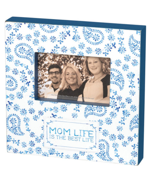 Indigo Mom Life Box Frame (37923)