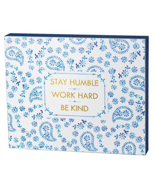Indigo Humble Kind Box Sign (37904)