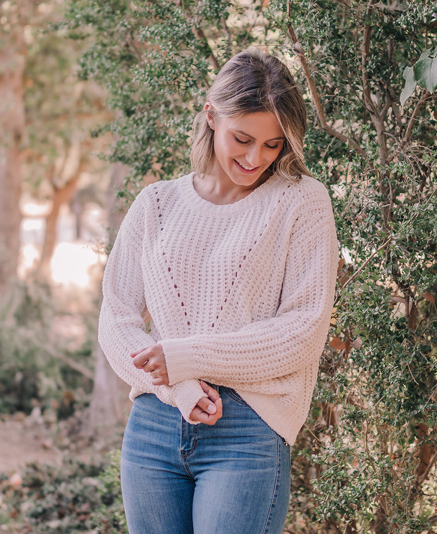 Ivory Cozy Pullover Sweater (W9052)