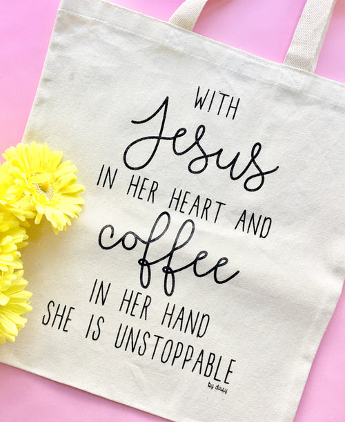 Jesus & Coffee Reusable Tote Bag (BAG05)