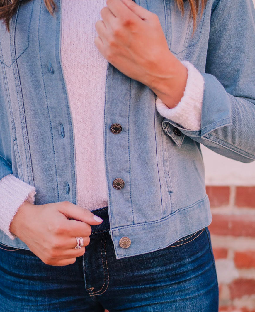 Blue Stretch Light Denim Jacket (J2400)