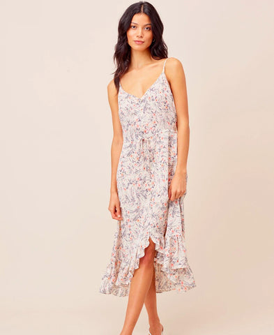 White Ruffle Maxi Dress (70183W)