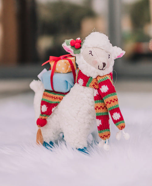 Llama Christmas Tabletop Figure (3821614)