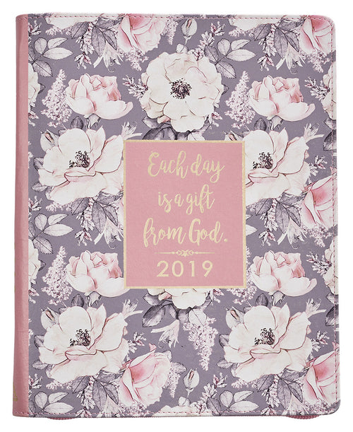 Large Floral Daily 2019 Planner