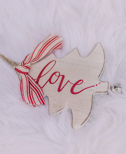 Love Rustic Christmas Tree Ornament (9736942)