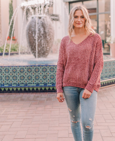 Embroidered Heart Sweater (5175AP2)