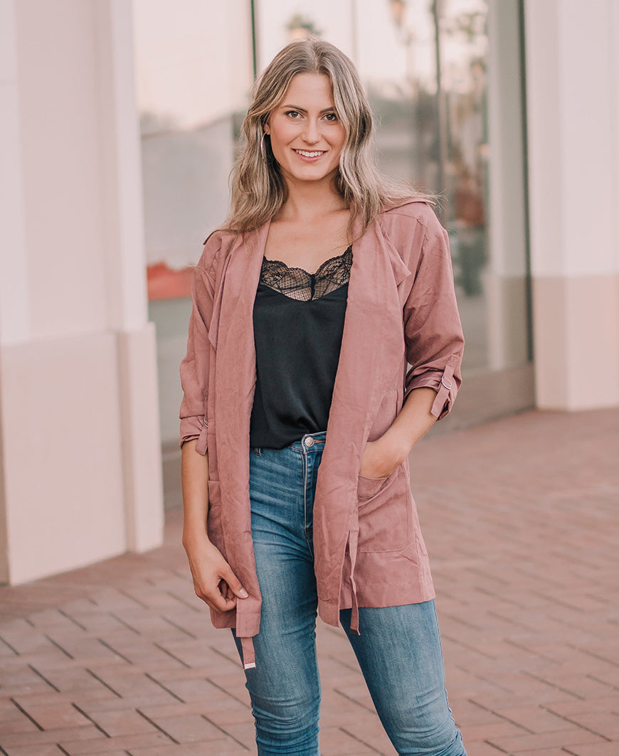 Dusty Rose Peach Skin Jacket (31259)