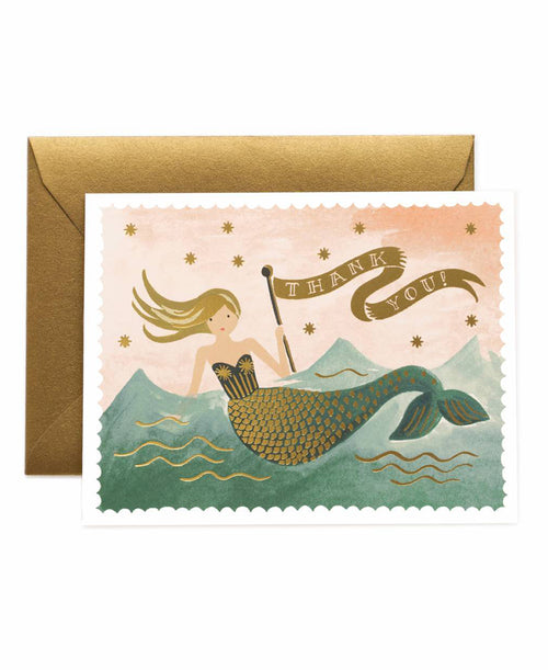 Mermaid Thank You Card Set by Rifle Paper Co.
