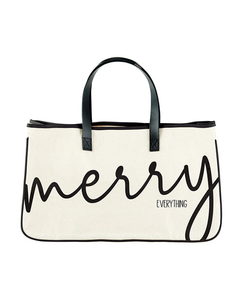 Merry Everything Canvas Tote (F4527)