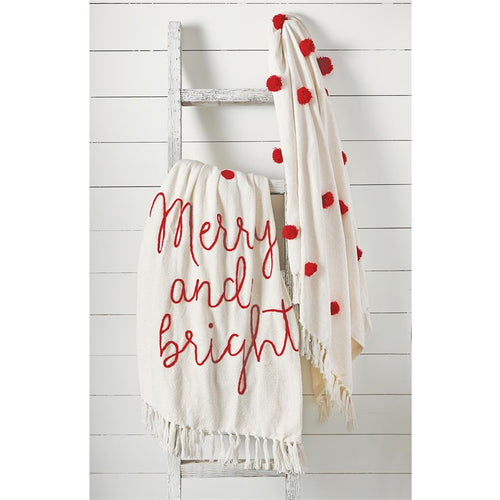 Merry and Bright Embroidered Blanket (41000024M)