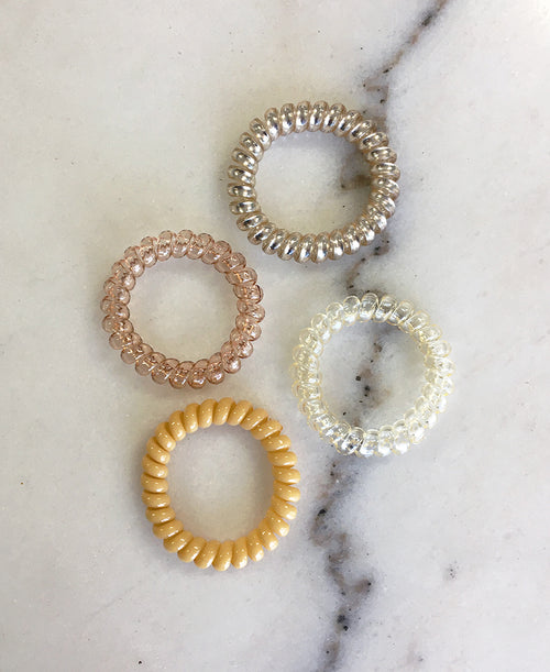 Champagne Cord Hair Tie Set