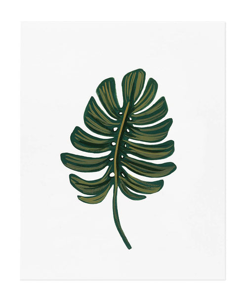 Monstera Leaf Art Print by Rifle Paper Co.