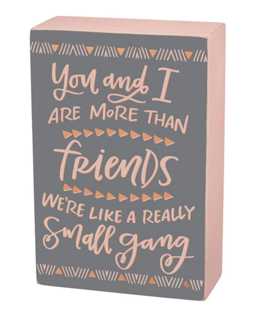 Friends Small Box Sign