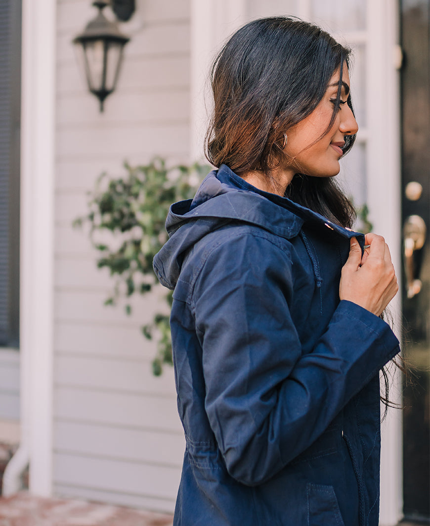 Navy Blue Anorak Jacket (65934)