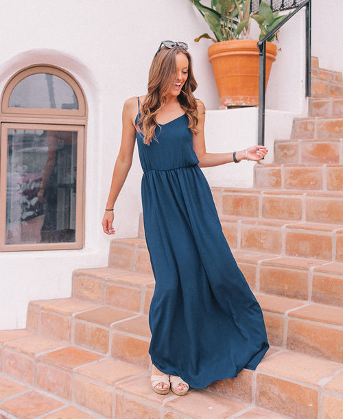 Navy 'Edith' Maxi Dress