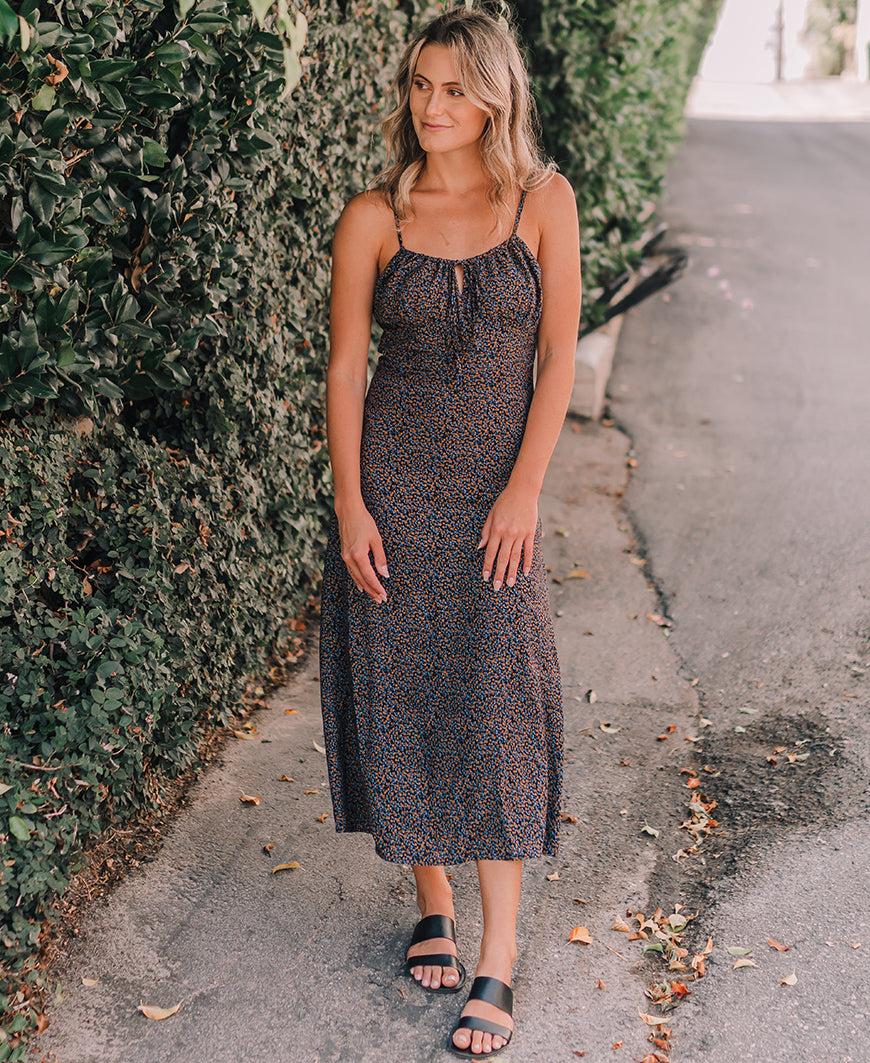 Autumn Nights Midi Dress (D3162)