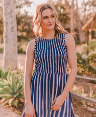 Blue Striped Dress (94108)