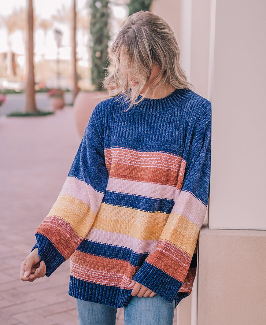 Primary Colors Chenille Sweater (90140)