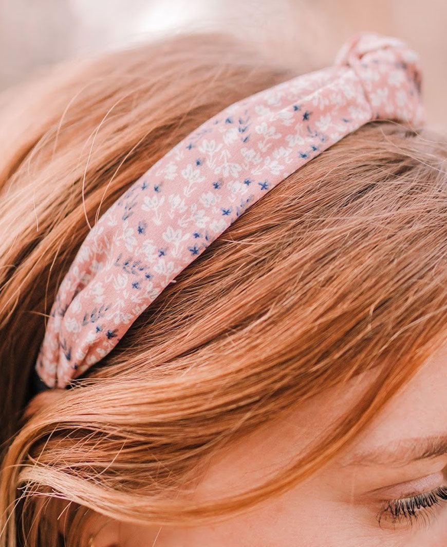 Dusty Pink Floral Headband