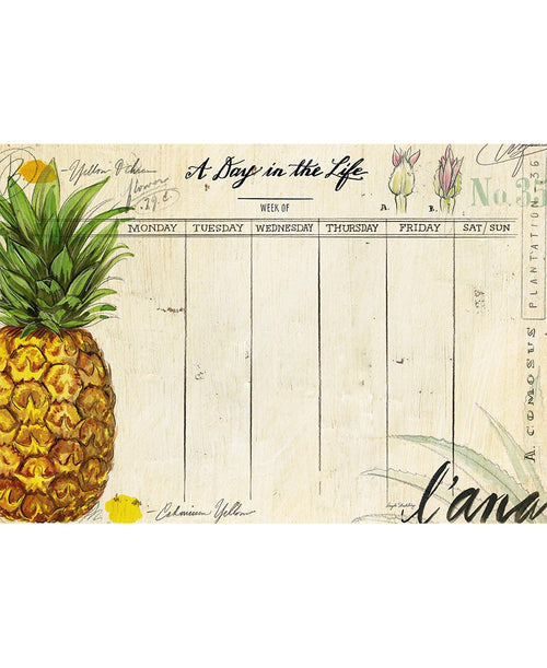 Pineapple Weekly Desk Planner