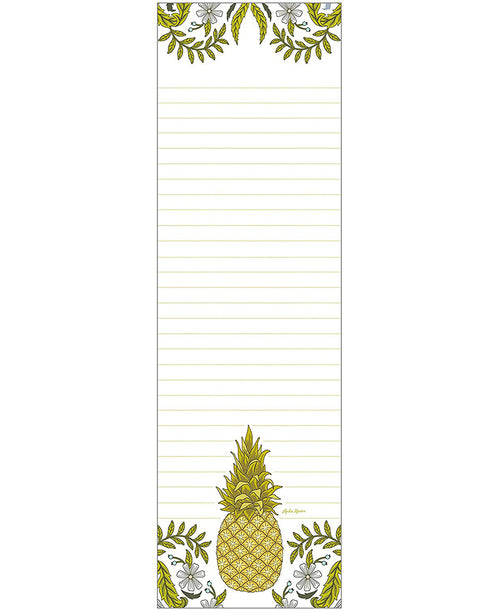 Pineapple Flower 50 Sheet Magnetic Notepad