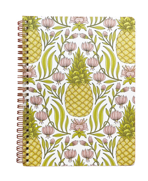 Pineapple Flower Medium Spiral Notebook