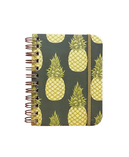 Pineapple Flower Little Spiral Notebook