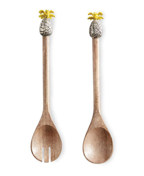 Pineapple Wooden Salad Servers (4635013)