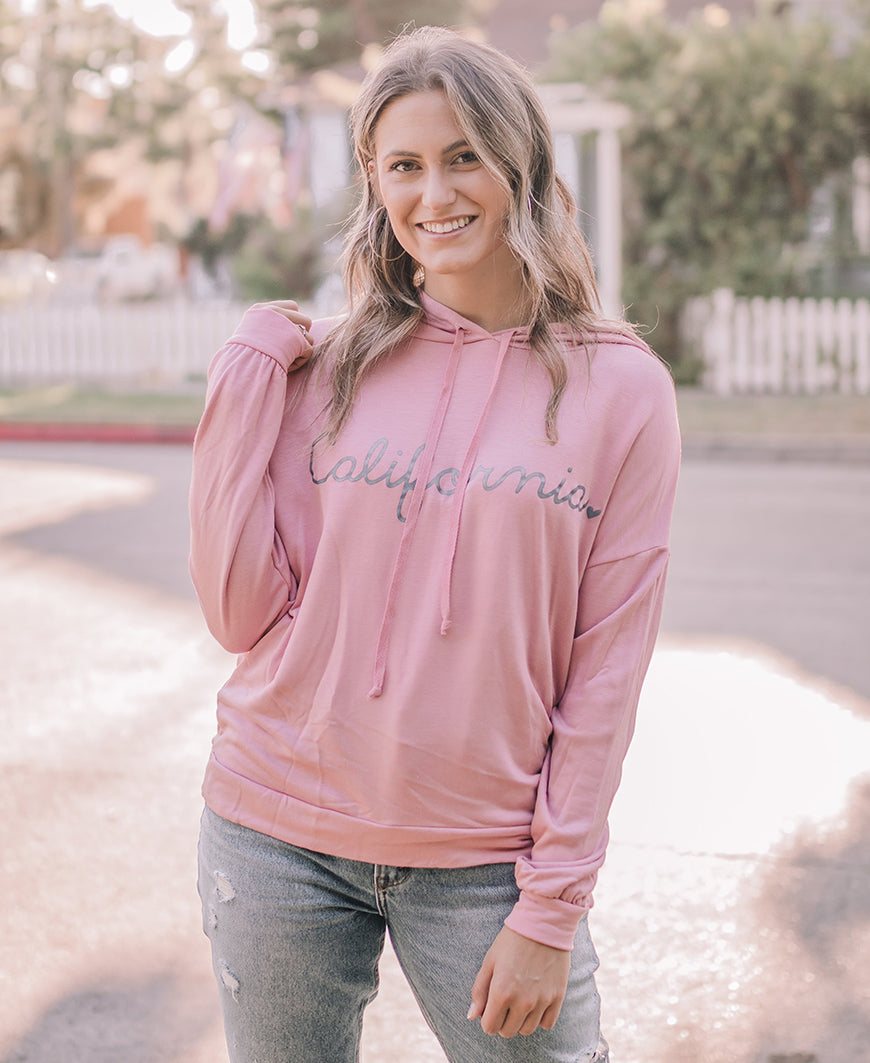 Blush California Graphic Hoodie Top (14960-SP)