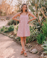 Mauve Embroidered Cami Dress (93845)