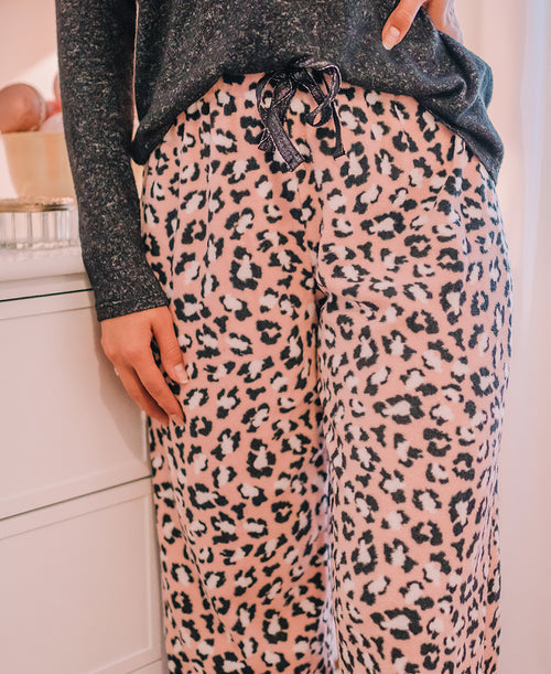 Pink Leopard Fleece PJ Pants (574581-M671)