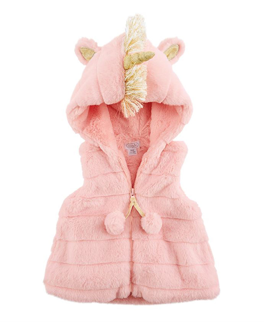 Pink Faux Fur Unicorn Vest (11080064)