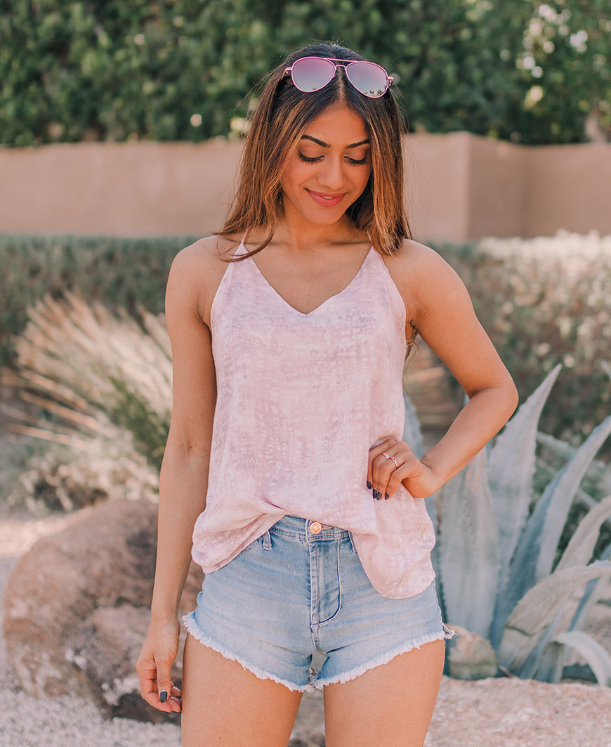 Pink Watercolor Racerback Tank (ST9819-A)