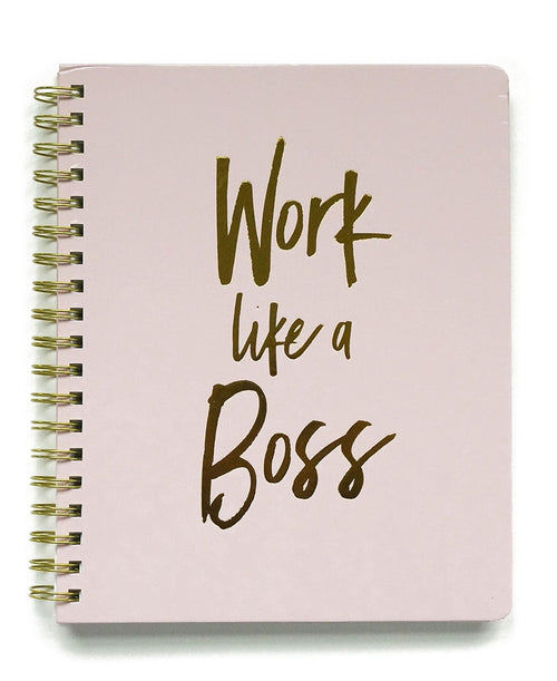 Pink Work Like A Boss Notebook