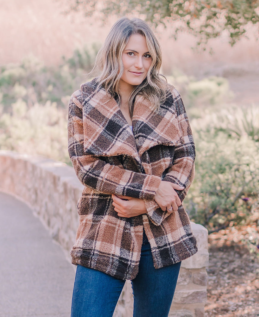 Plaid Fleece Jacket (B9FJ1014)