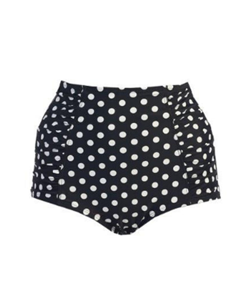 Polka Dot Ruched High-Waisted Bottoms