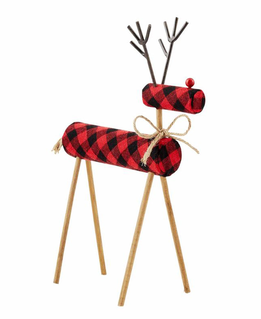 Red Plaid Deer Sitter (40030057L)