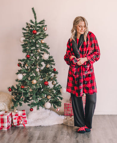 Red and Black Plaid PJ Pants (14489-19)
