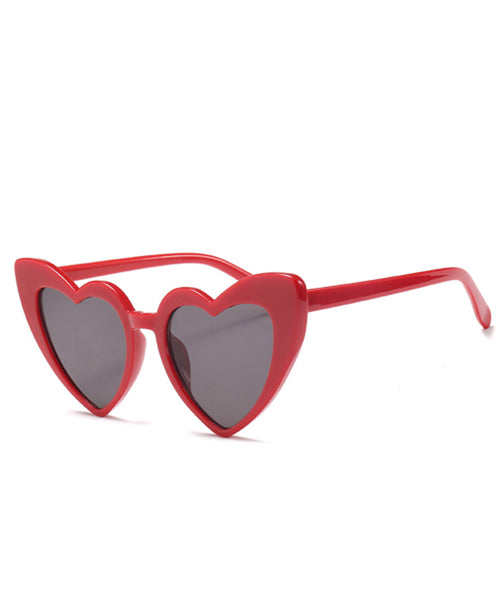 Red Cat Eye Heart Sunglasses