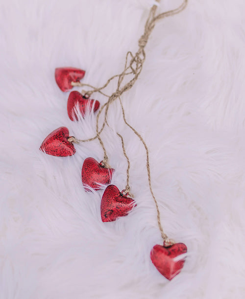 Red Hearts Dangle Ornament (2020190588)
