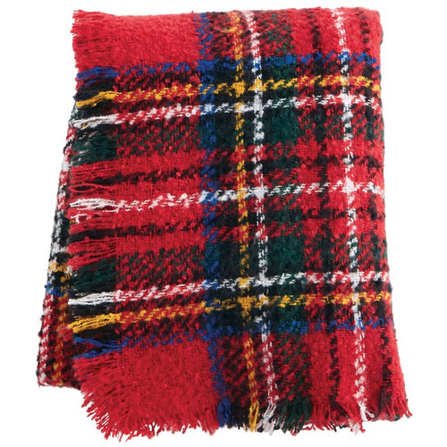 Red Boucle Tartan Throw (41000028R)