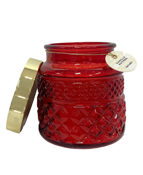 Red Glass Vanilla Nutmeg Candle (308289)